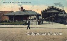 dep002059 - Penna RR Station, New Kensington, PA, Pennsylvania, USA Depot Postcard, Railroad Post Card