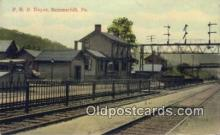 dep002060 - PRR Depot, Summerhill, PA, Pennsylvania, USA Depot Postcard, Railroad Post Card