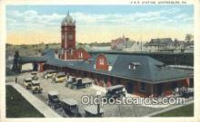 dep002063 - PRR Station, Greensburg, PA, Pennsylvania, USA Depot Postcard, Railroad Post Card