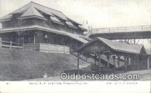 dep002069 - Penn R R Station, Phoenixville, PA, Pennsylvania, USA Depot Postcard, Railroad Post Card
