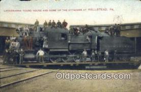 dep002070 - Lackawanna Round House, Hallstead, PA, Pennsylvania, USA Depot Postcard, Railroad Post Card