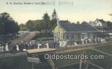 dep002073 - RR Station, Graters Ford, PA, Pennsylvania, USA Depot Postcard, Railroad Post Card