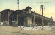 dep002074 - PRR Depot, Lancaster, PA, Pennsylvania, USA Depot Postcard, Railroad Post Card