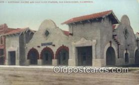 dep002075 - Southern Pacific & Salt Lake Station, San Bernardino, CA, California, USA Depot Postcard, Railroad Post Card