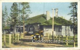 dep002076 - West Yellowstone Station, Carmel, CA, California, USA Depot Postcard, Railroad Post Card
