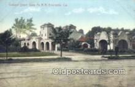 dep002082 - Oakland Depot Santa Fe RR, Emeryville, CA, California, USA Depot Postcard, Railroad Post Card