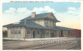dep002083 - Southern Pacific Depot, Santa Rosa, CA, California, USA Depot Postcard, Railroad Post Card