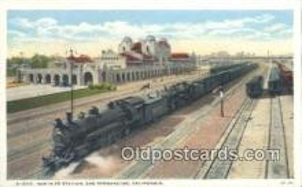 dep002084 - Santa Fe Station, San Bernardino, CA, California, USA Depot Postcard, Railroad Post Card
