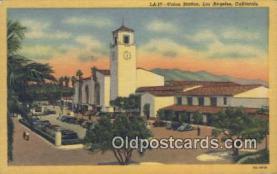 dep002085 - Union Station, Los Angeles, CA, California, USA Depot Postcard, Railroad Post Card