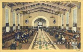 dep002086 - Union Station, Los Angeles, CA, California, USA Depot Postcard, Railroad Post Card