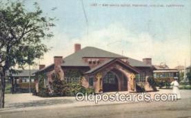 dep002090 - Key Route Depot, Oakland, CA, California, USA Depot Postcard, Railroad Post Card