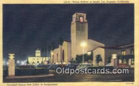 dep002093 - Union Station, Los Angeles, CA, California, USA Depot Postcard, Railroad Post Card