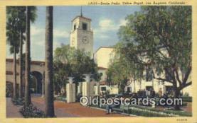 dep002101 - Union Depot, Los Angeles, CA, California, USA Depot Postcard, Railroad Post Card