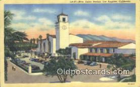 dep002104 - New Union Station, Los Angeles, CA, California, USA Depot Postcard, Railroad Post Card