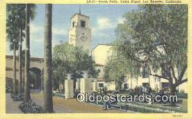 dep002105 - Union Depot, Los Angeles, CA, California, USA Depot Postcard, Railroad Post Card