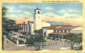 dep002106 - New Union Station, Los Angeles, CA, California, USA Depot Postcard, Railroad Post Card
