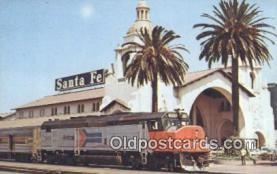 dep002107 - Amtrak 509, San Diego, CA, California, USA Depot Postcard, Railroad Post Card