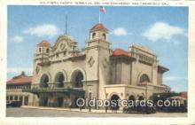 dep002111 - Southern Pacific Terminus, San Francisco, CA, California, USA Depot Postcard, Railroad Post Card
