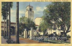 dep002112 - Union Depot, Los Angeles, CA, California, USA Depot Postcard, Railroad Post Card