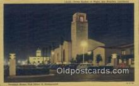dep002113 - Union Station, Los Angeles, CA, California, USA Depot Postcard, Railroad Post Card