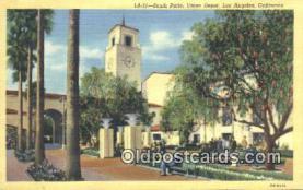 dep002114 - Union Depot, Los Angeles, CA, California, USA Depot Postcard, Railroad Post Card
