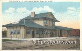 dep002120 - Southern Pacific Depot, Santa Rosa, CA, California, USA Depot Postcard, Railroad Post Card
