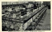 dgs001005 - Soda Fountain, Columbia, South Carolina, USA Drug Store, Stores, Postcard Post Card