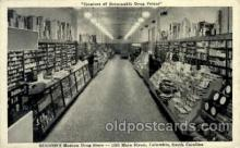 dgs001017 - Eckerd's Modern Drug Store, Columbia, S.C., South Carolina, USA Drug Store, Stores, Postcard Post Card