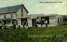 dgs001021 - Byrons Little Neck, Mass. USA Hotel & Store Drug Store, Stores, Postcard Post Card