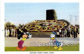 dis001109 - Ontario Hydro Floral Clock Ontario, Canada Postcard Post Card
