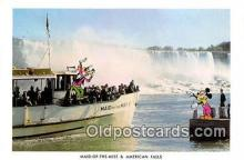 dis001111 - Maid of the Mist & American Falls Niagara Falls, Ont, Canada Postcard Post Card