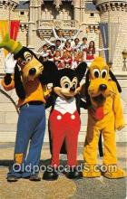 dis001134 - Goofy, Mickey Mouse & Pluto Walt Disney World, FL, USA Postcard Post Card