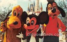 dis001136 - Mickey Mouse, Pluto, & Goofy Walt Disney World, FL, USA Postcard Post Card