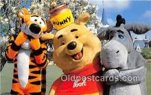 dis001148 - Tigger, Pooh & Eeyore Walt Disney World, FL, USA Postcard Post Card