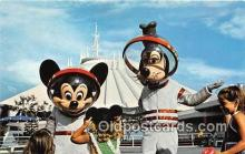 dis001151 - Mickey & Goofy Tomorrowland, Walt Disney World, FL, USA Postcard Post Card