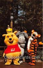 dis001159 - Hunny Bunch, Pooh, Eeyore & Tigger Disneyland, Anaheim, CA, USA Postcard Post Card