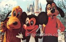 dis001165 - Mickey Mouse, Pluto, & Goofy Walt Disney World, FL, USA Postcard Post Card
