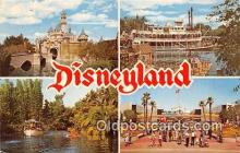 dis001174 - Sleeping Beauty Castle, Mark Twain Steamboat Disneyland, Anaheim, CA, USA Postcard Post Card