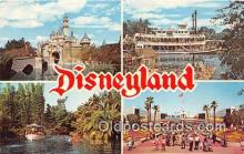 dis001176 - Sleeping Beauty Castle, Mark Twain Steamboat Disneyland, Anaheim, CA, USA Postcard Post Card