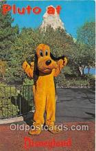 dis001179 - Pluto Fantasyland, Disneyland, Anaheim, CA, USA Postcard Post Card