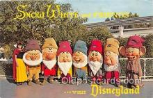 dis001183 - Snow White & the Seven Dwards Disneyland, Anaheim, CA, USA Postcard Post Card