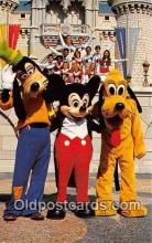 dis001184 - Goofy, Mickey Mouse & Pluto Walt Disney World, FL, USA Postcard Post Card