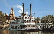 dis001195 - Gatherin' Steam, Frontierland, Mark Twain Disneyland, Anaheim, CA, USA Postcard Post Card