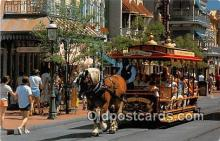 dis001255 - Trolley Ride Down Main Street, USA Walt Disney World, FL, USA Postcard Post Card