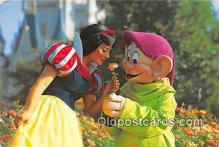 dis001288 - Dopey, Princess Snow White Walt Disney World, FL, USA Postcard Post Card