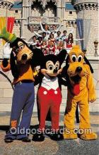 dis001305 - Goofy, Mickey & Pluto Walt Disney World, FL, USA Postcard Post Card
