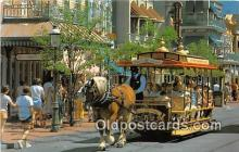dis001317 - Trolley Ride Down Main Street, USA Walt Disney World, FL, USA Postcard Post Card