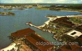 dis100020 - The  polynesian village Disney Postcard Post Card