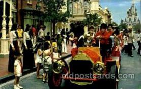 dis100027 - Riding Down Main street  USA Disney Postcard Post Card