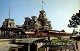 dis100034 - Walt disney world steam railroad Disney Postcard Post Card